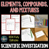 Elements, Compounds, and Mixtures - Scientific Investigation