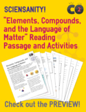 Elements, Compounds, and the Language of Matter: Reading P