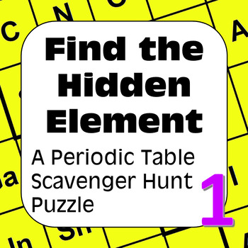 Periodic Table of the Elements Scavenger Hunt: Elements Crossword