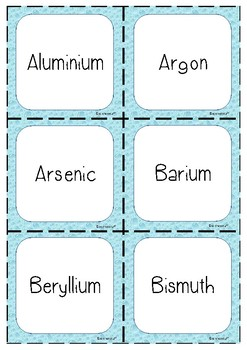 Elements Flash Cards