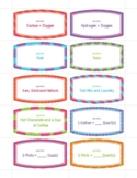 Elements Matching Game Cards