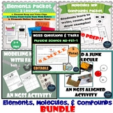Elements, Molecules, Compounds NGSS Bundle MS-PS1-1 and TEKS 6.5A