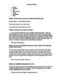 Elements Of Fiction - Handout, Quiz, and Answer Key