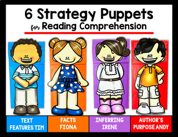 NONFICTION Paper Bag Puppets with 6 Skills for teaching NONFICTION