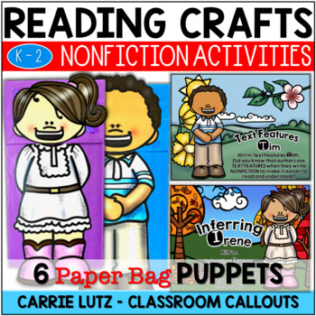 Elements Of NONFICTION Paper Bag Puppets with 6 Skills for