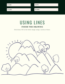Elements Of Visual Art Worksheet (Line)
