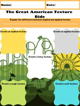 Elements Of Visual Arts Worksheet (Texture)