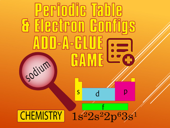Elements/Periodic Table/Electron Configurations~POWERPOINT ADD A CLUE GAME~