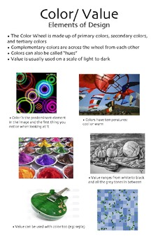 Elements & Principles Color Poster