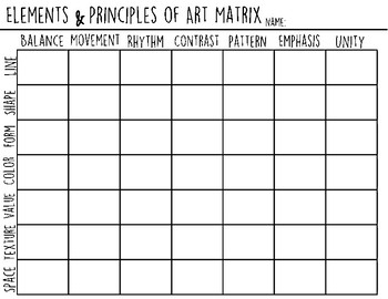 Elements & Principles Matrix