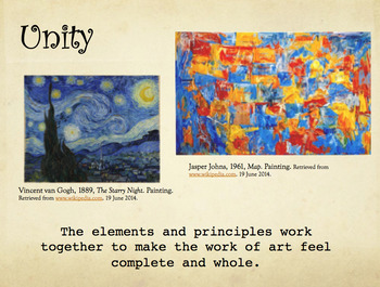 Elements & Principles Trading Cards