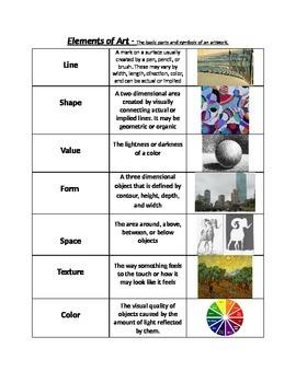 Elements & Principles of Art Handout