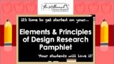 Elements & Principles of Design Research Pamphlet (EDITABLE) (NASAFACS 11.2.1)