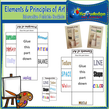 Elements & Properties of Art Interactive Foldable Booklets