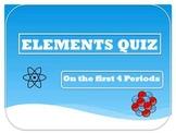Element Symbols Quiz or Worksheet