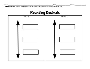 Rounding decimals Gallery Walk
