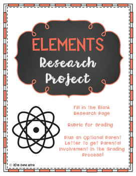 Elements Research Writing Assignment