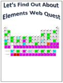 Elements Webquest Scavenger Hunt Science Common Core Activity