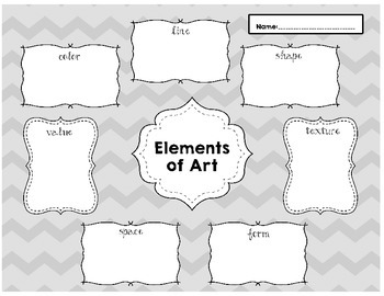 Elements Worksheet-Color and Black/White