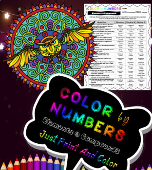 Elements and Compounds Color By Numbers