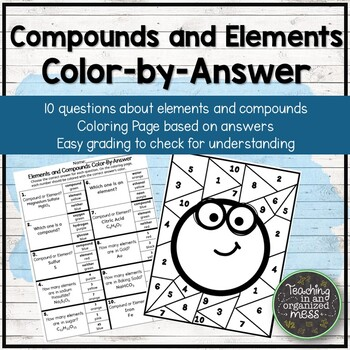 Elements and Compounds Color-by-Answer