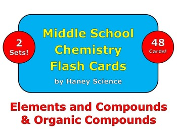 Elements and Compounds Flash Cards
