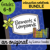 Elements and Compounds Interactive Notebook Doodle BUNDLE - Science Notes
