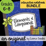 Elements and Compounds Interactive Notebook Doodle BUNDLE