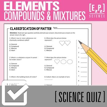 Elements and Compounds Quiz