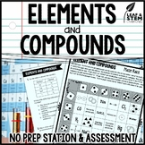 Elements and Compounds Science Center and Assessment