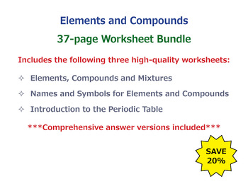 Elements and compounds worksheet teaching resources teachers pay elements and compounds worksheet bundle urtaz Images