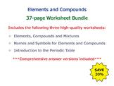 Elements and Compounds [Worksheet Bundle]