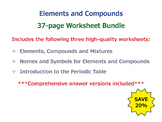 Elements and Compounds [Worksheet Bundle]