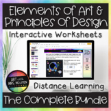 Elements and Principles Interactive Worksheets Art Super Bundle