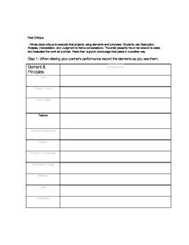 Elements and Principles Practice Worksheet