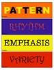 Elements and Principles of Art Classroom Signs
