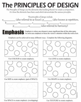 Elements and Principles of Art Design (Canadian colour)