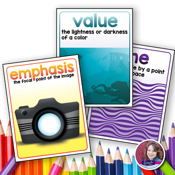 Elements and Principles of Art Poster Set