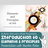 Introduction to the Elements and Principles of Art Presentation