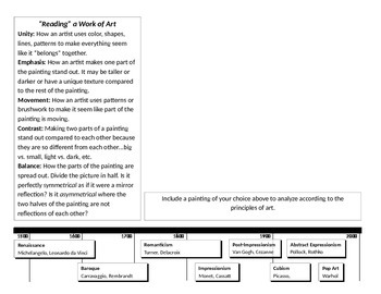 Elements and Principles of Art Review