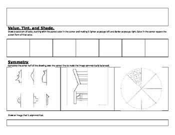 Elements and Principles of Art Review Packet