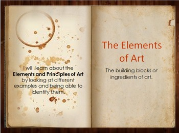 Elements and Principles of Art-Rustic Themed-All ages!