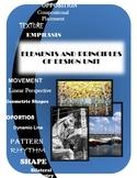 Elements and Principles of Design UNIT EDITABLE PowerPoint, Quizzes, Activities