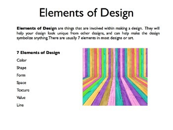 Elements and Principles of Design PowerPoint