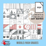Elements and Principles of Design Worksheet for High School