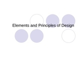 Elements and Principles of Interior Design PowerPoint