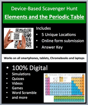 Elements and the Periodic Table - Device-Based Scavenger Hunt Activity