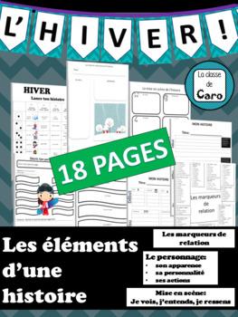 Éléments d'une histoire - HIVER - 18 PAGES IMPRIMABLES!
