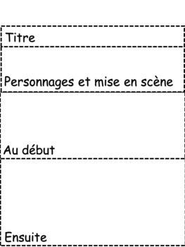 Éléments d'une histoire - HIVER - Imprimable
