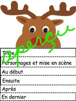 Éléments d'une histoire - NOËL - Imprimable - Flip Book